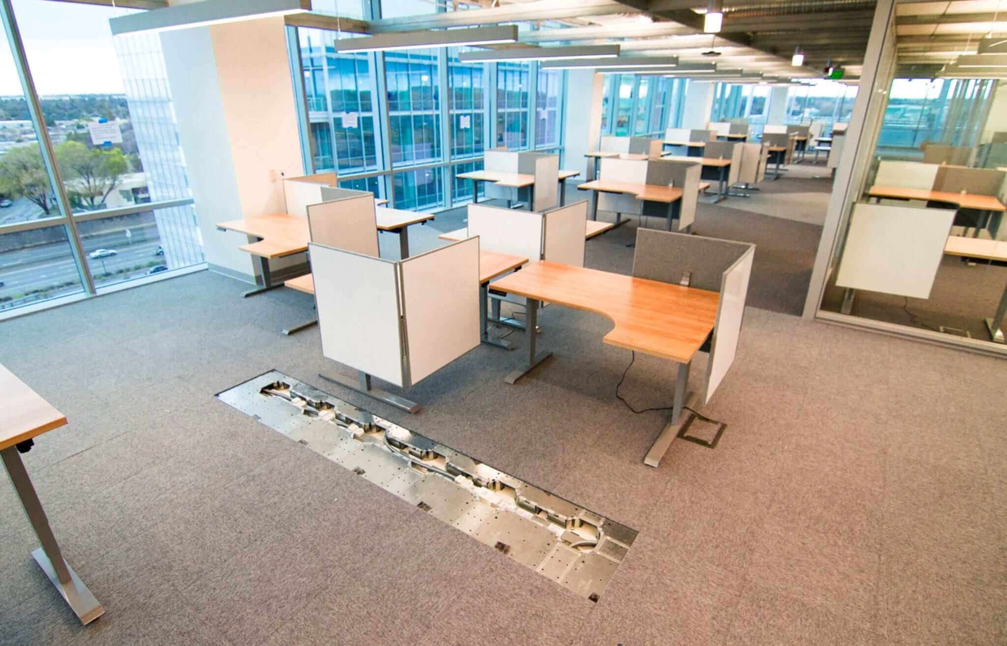 Low Profile Raised Flooring in Commercial Offices