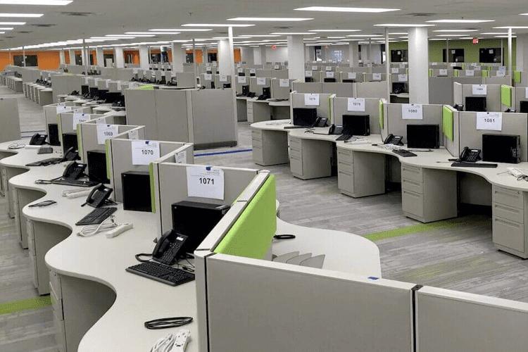 Call Center Access Flooring