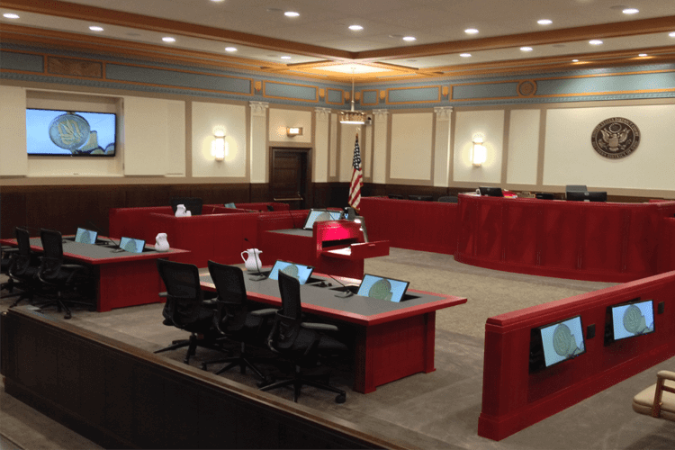 Courtroom Access Flooring