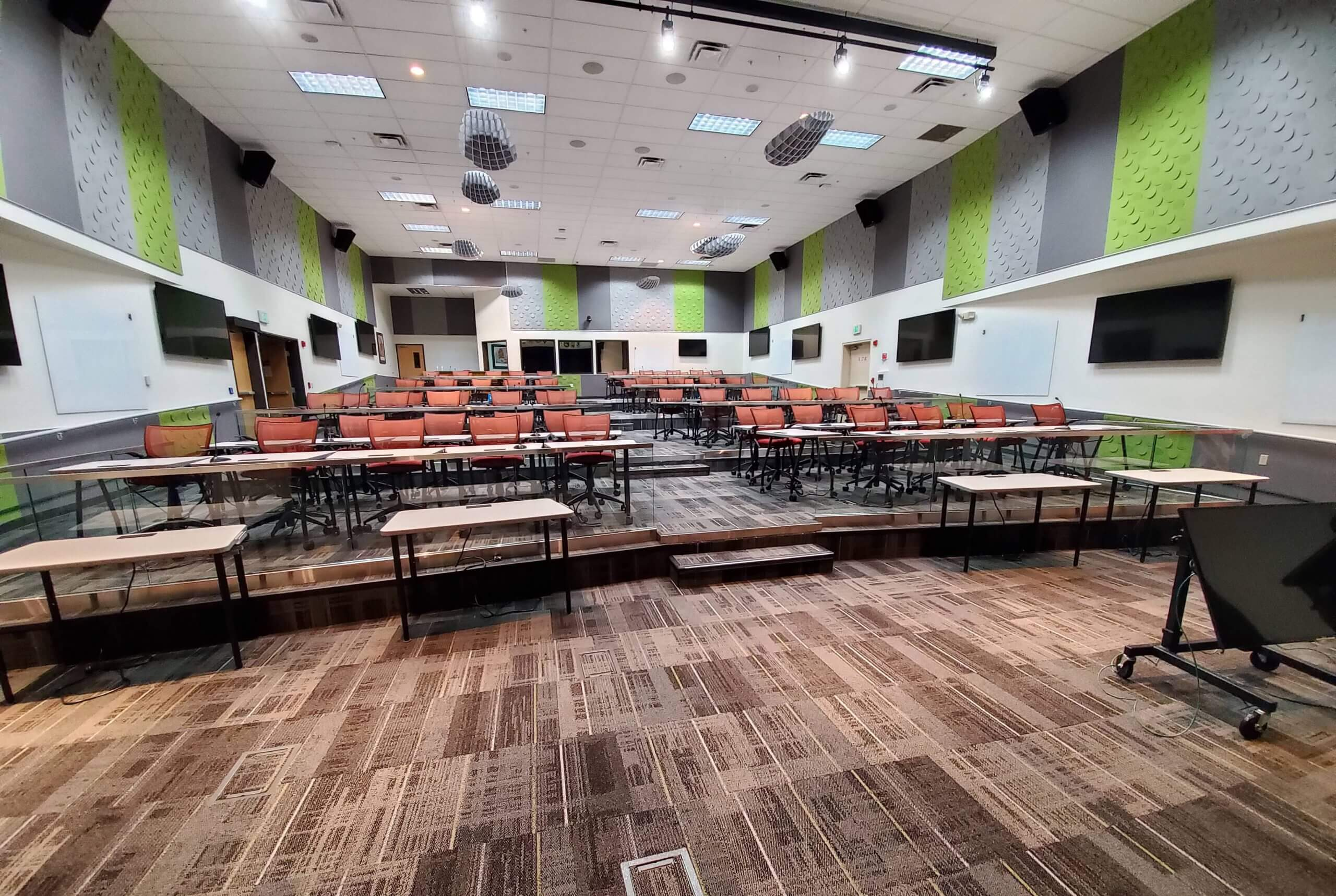 raised floor Conference & Training Rooms